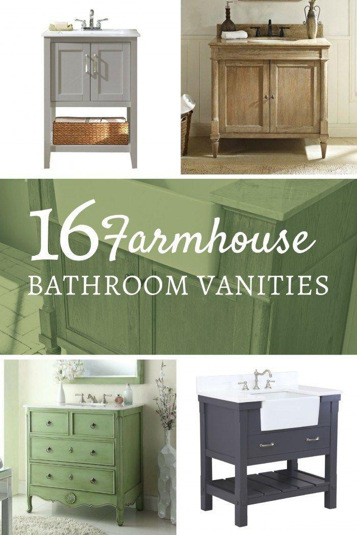 16 Farmhouse Style Single Sink Vanities Single sink