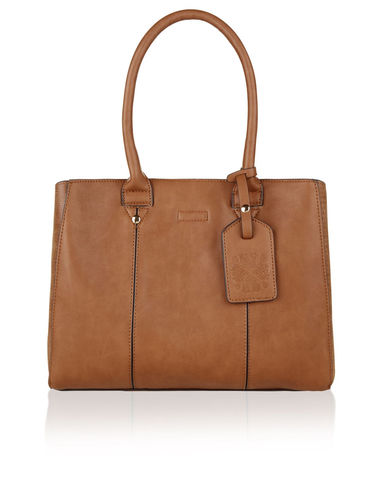 Monsoon Pandora Structured Tote Bag Brown One Size