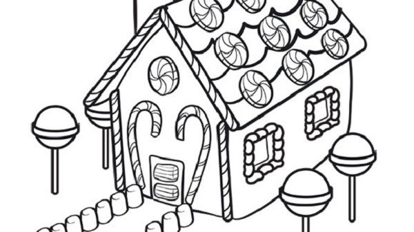 christmas coloring pages gingerbread house