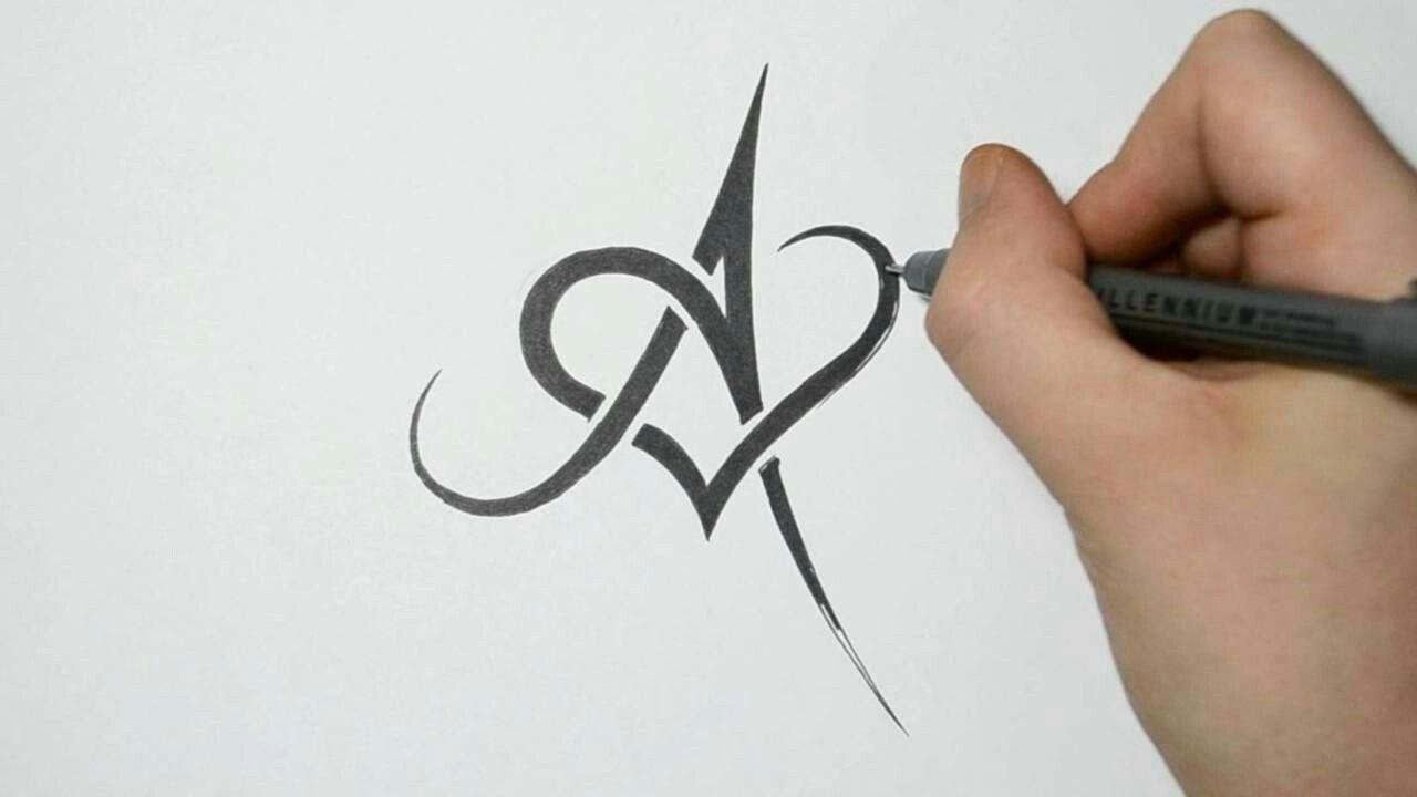 Love A Tattoo Lettering Fonts Tribal Tattoo Designs Alphabet Tattoo Designs