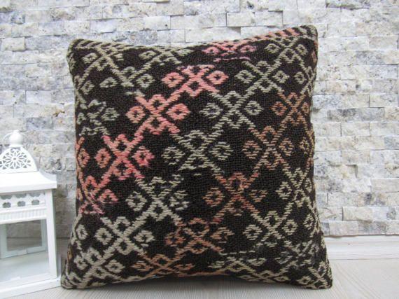 16x16 kilim pillow sofa pillow decorative pillow natural pillow turkish pillow 16x16 kilim pillow bohemian pillow morocco pillow