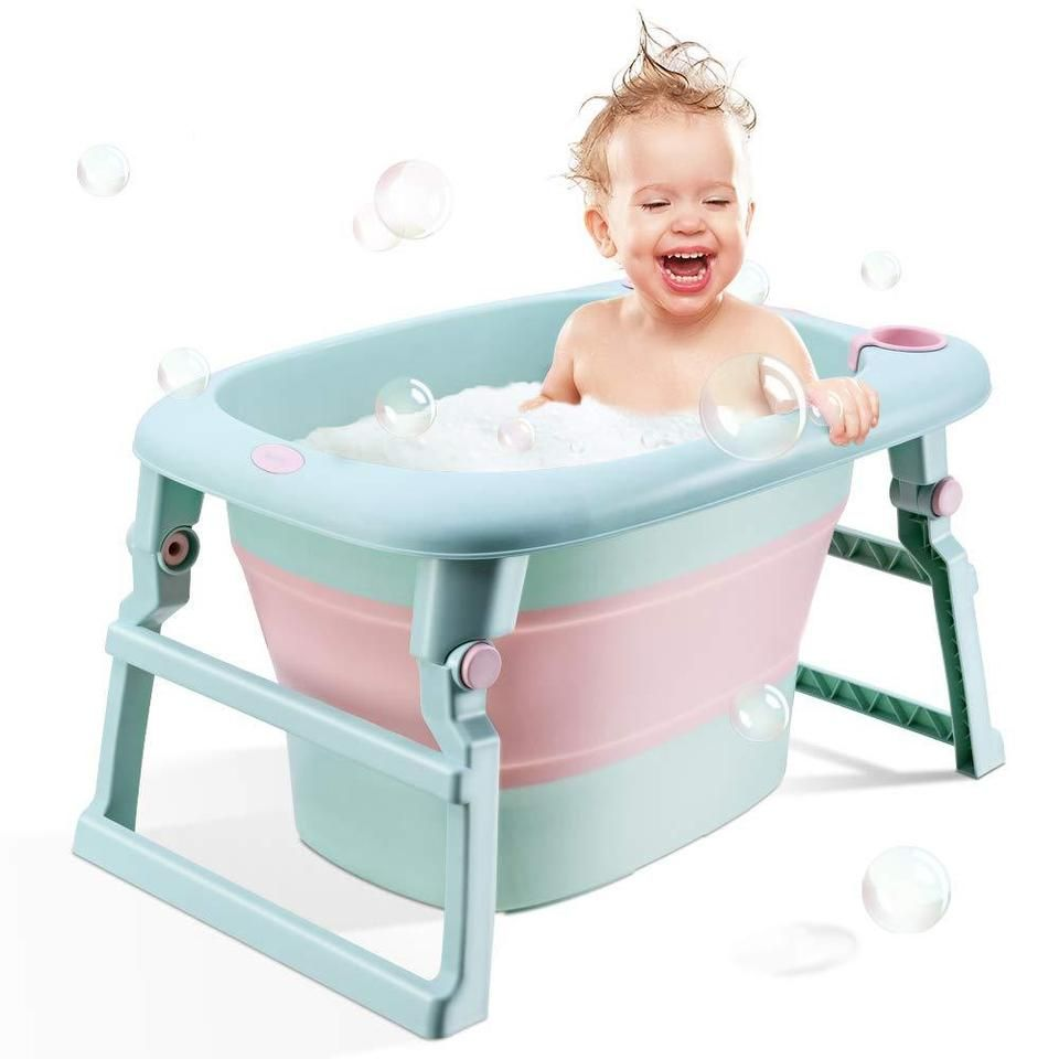 New Style Portable Collapsible Baby Bathtub For 0 5 Years