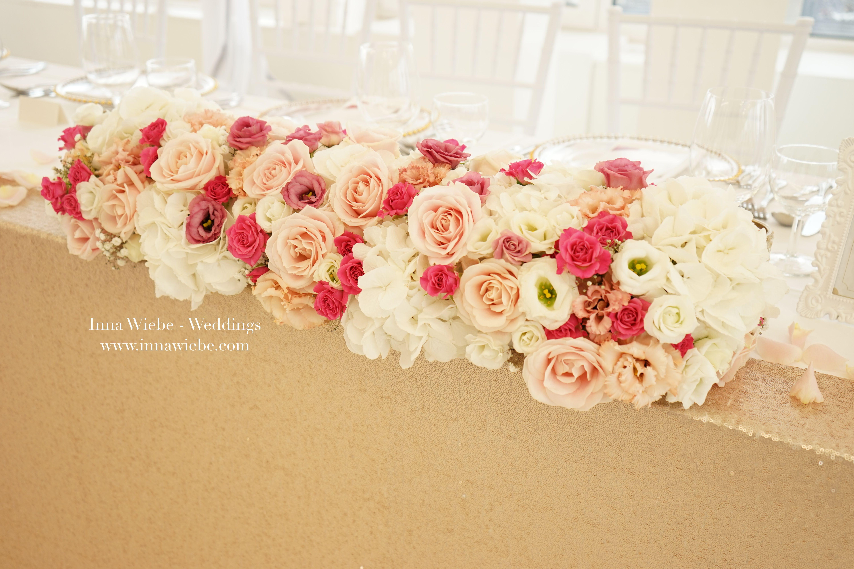 Vertraumtes Blumengesteck In Rosa Pink Und Weiss Hochzeitsblumen