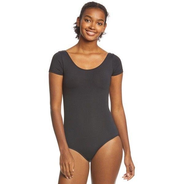 7934655cf Danskin Scoopneck Short Sleeve Yoga   Dance Leotard ( 24) ❤ liked ...