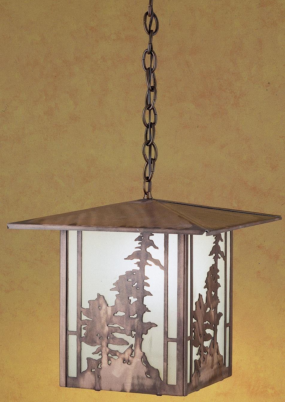 15 Inch Sq Tall Pines Lantern Pendant
