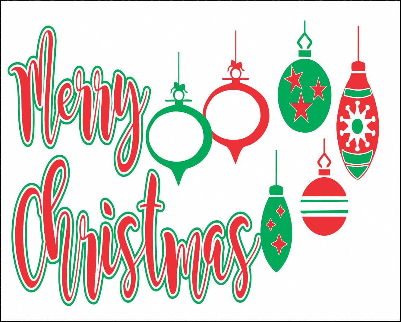 Merry Christmas Ornament Svg.Pin On Christmas