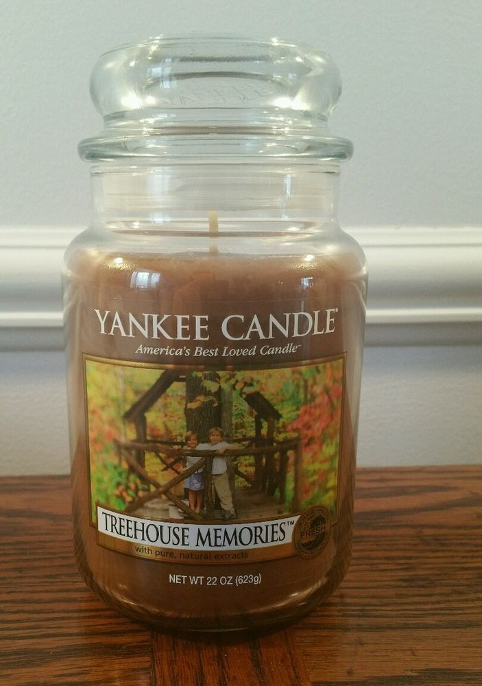 Yankee Candle Treehouse Memories 22oz Retired Rare Yankee Candle Candles Tree House