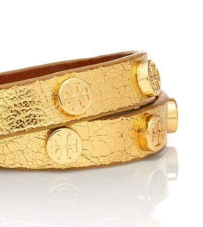 TORY BURCH BRACELET: Gold gold gold