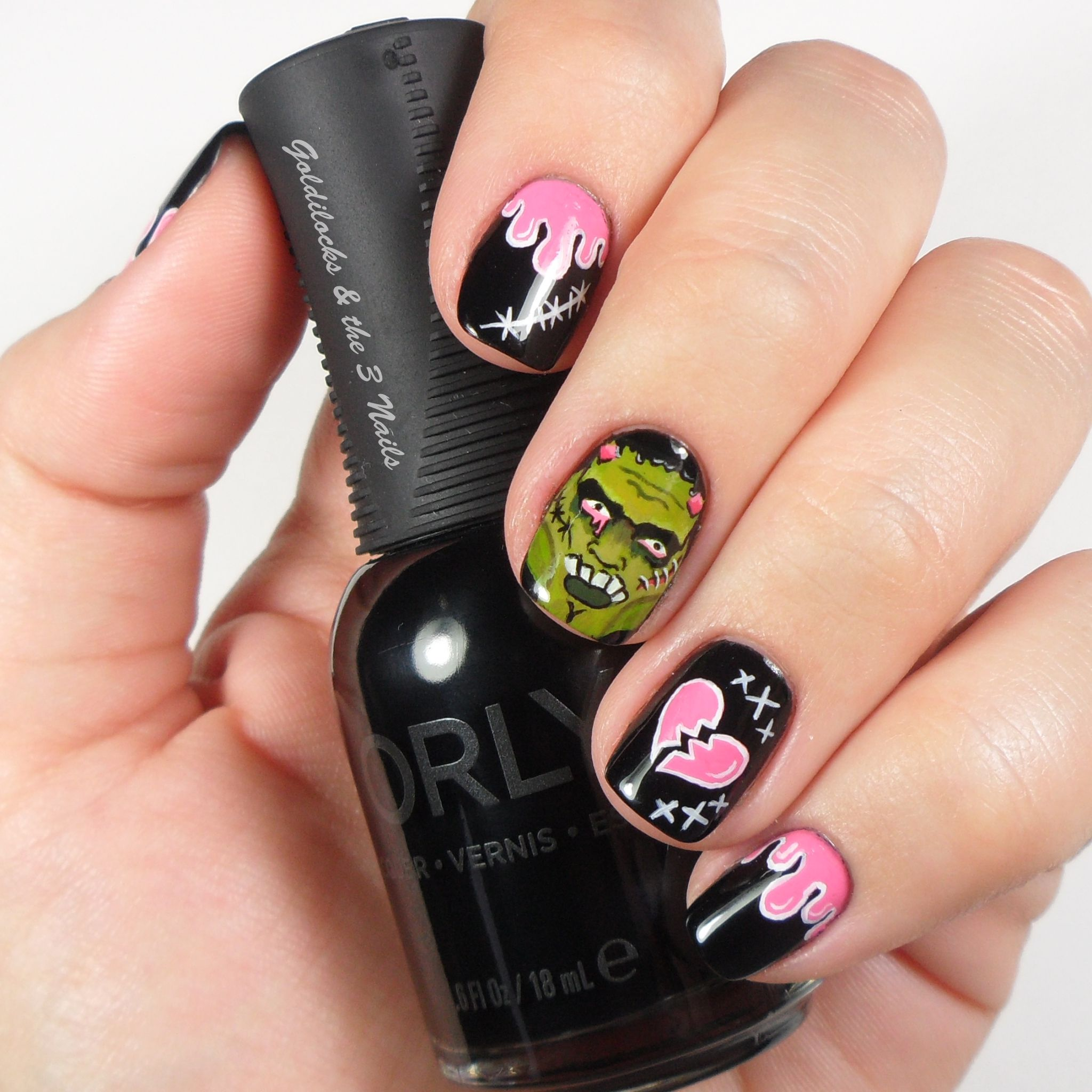 Pop Art Frankenstein Nail Art (With images) | Pop art ...