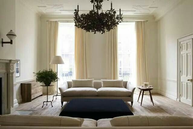 Contemporary style living space beige . Dark blue
