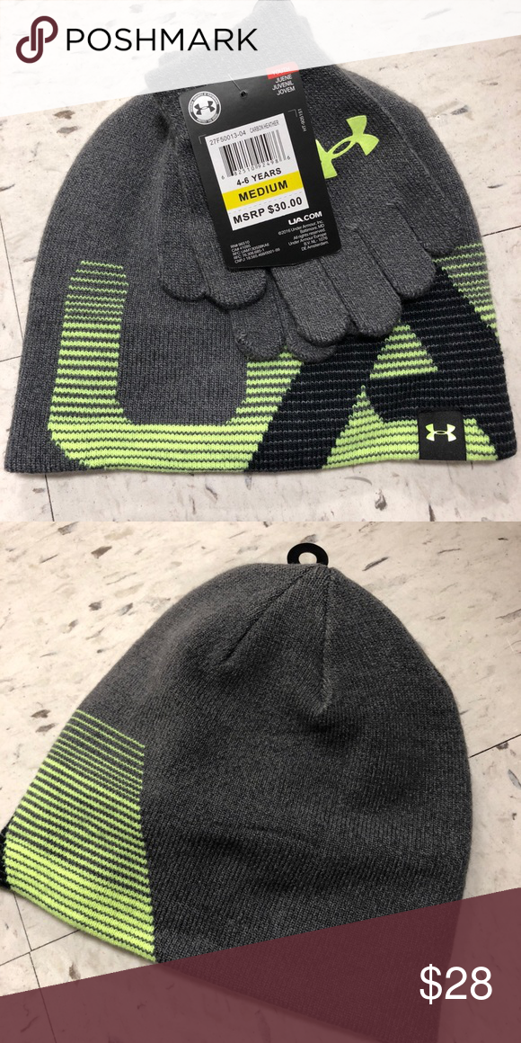 New Under Armour little boy beanie gloves set Sz M New with tag Size    medium for 4-6 years old Beanie  gloves set Under Armour Accessories Hats b49f9cfc074