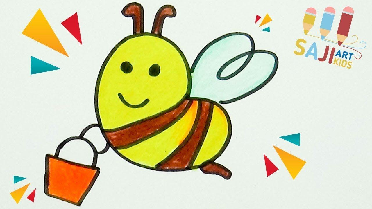 วาดร ประบายส ไม สวยๆ วาดร ปผ งน อย How To Draw A Bee Step By Step Easy