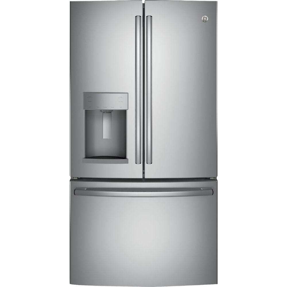Ge 27 8 Cu Ft French Door Refrigerator Stainless Steel
