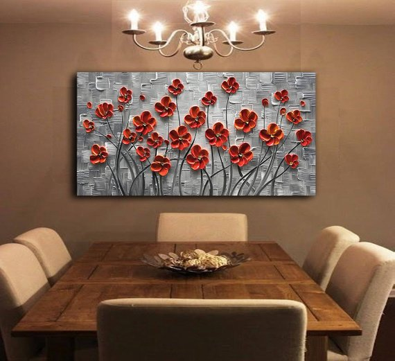 Size 20x40inches 50x100cm Size 24x48inches 60x120cm If Your Need Other Size Please Ki Fine Art Painting Oil Oil Painting Abstract Oil Painting Flowers
