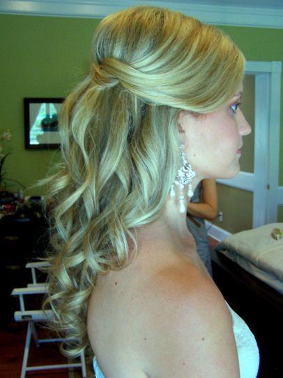 Curly Hair Half Up Half Down Wedding Style Can Always Wear A Tiara