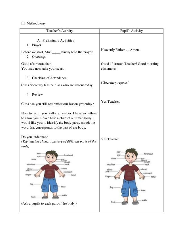 Detailed Lesson Plan in Science and Health Grade 3 Sense Organ - health lesson plan