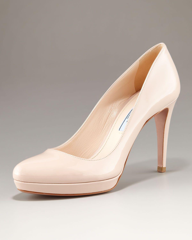 Nude Patent Rounded Peep Toe Platform Court Shoes VfndxxrKnm