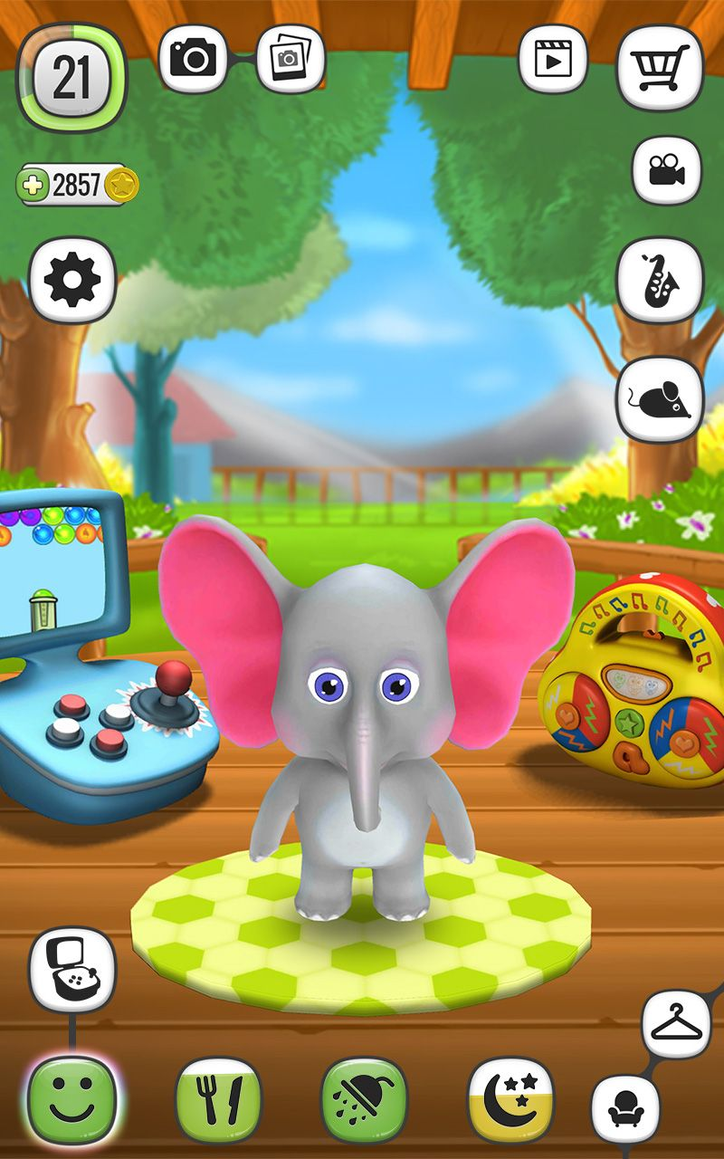 My Talking Elly Is A Sweet Baby Elephant Which Likes To Play Once You Start Playing With It You Will Not Be Able To Stop Down Mini Games Virtual Pet Up