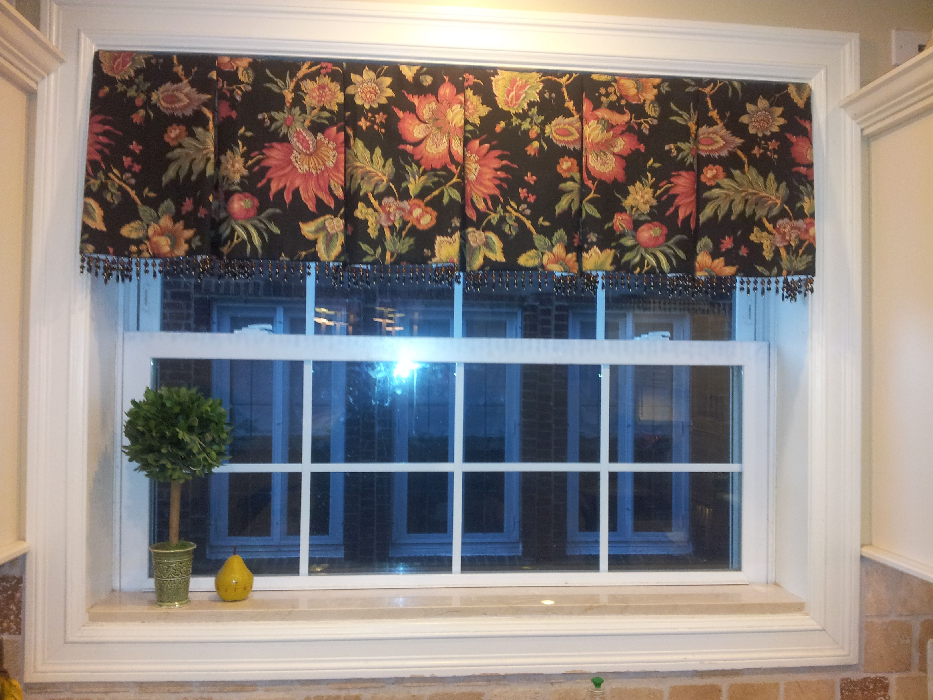 Box Pleated Valance - Bead Trim - Lined and Inner-lined - inside ...