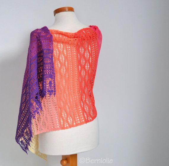 Crochet Lace Shawl Lace Cotton P511 Berniolie Etsy