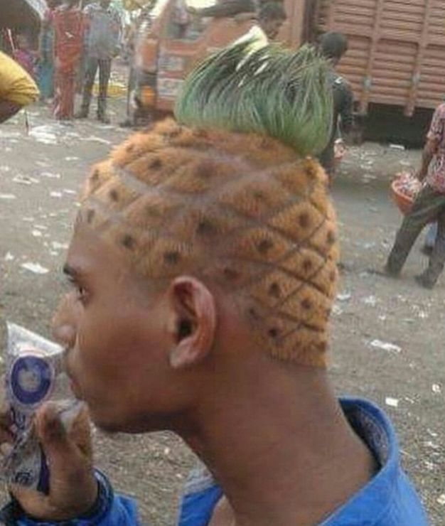 Amazing Pineabpple Hairstyles for Guys