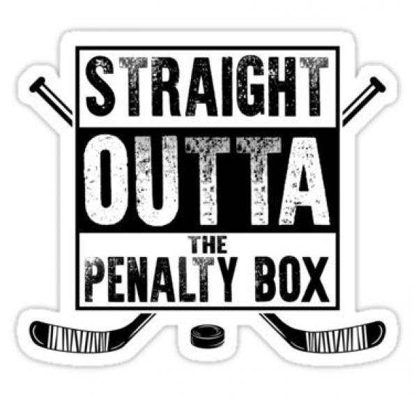 Straight Outta The Penalty Box Ice Hockey Shirt Ice Hockey Gifts Hockey Apparel Hock Sticker Hockey Hockey In 2020 Hockey Clothes Hockey Gifts Hockey Shirts