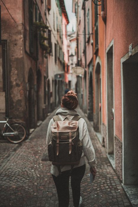 A street photography portrait of a female traveller - Popular stock images
