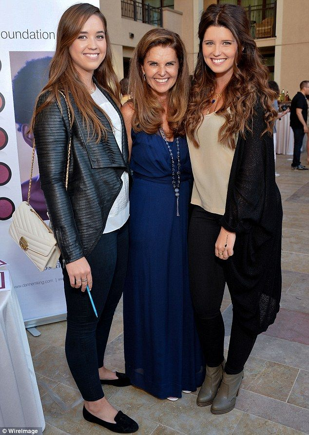 Maria Shriver and her daughters Christina and Katherine