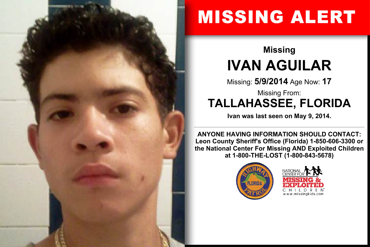 IVAN AGUILAR, Age Now: 17, Missing: 05/09/2014  Missing From