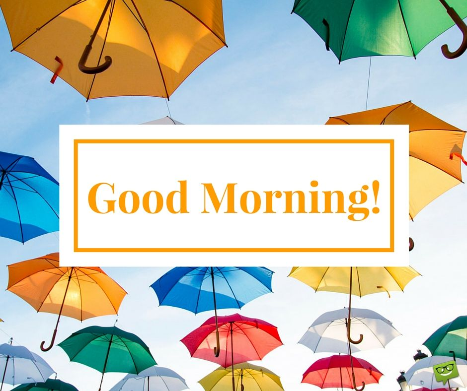 Good Morning Image happy and colorful