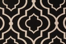Mill Creek Donetta - Sussex Printed Textured Cotton Drapery Fabric in Licorice $11.95 per yard