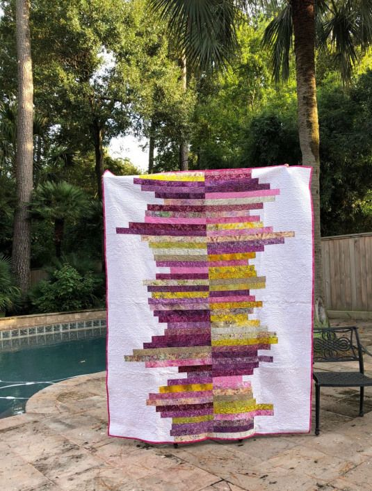Another fantastic quilt by .  This strip quilt would be such a fun easy project.