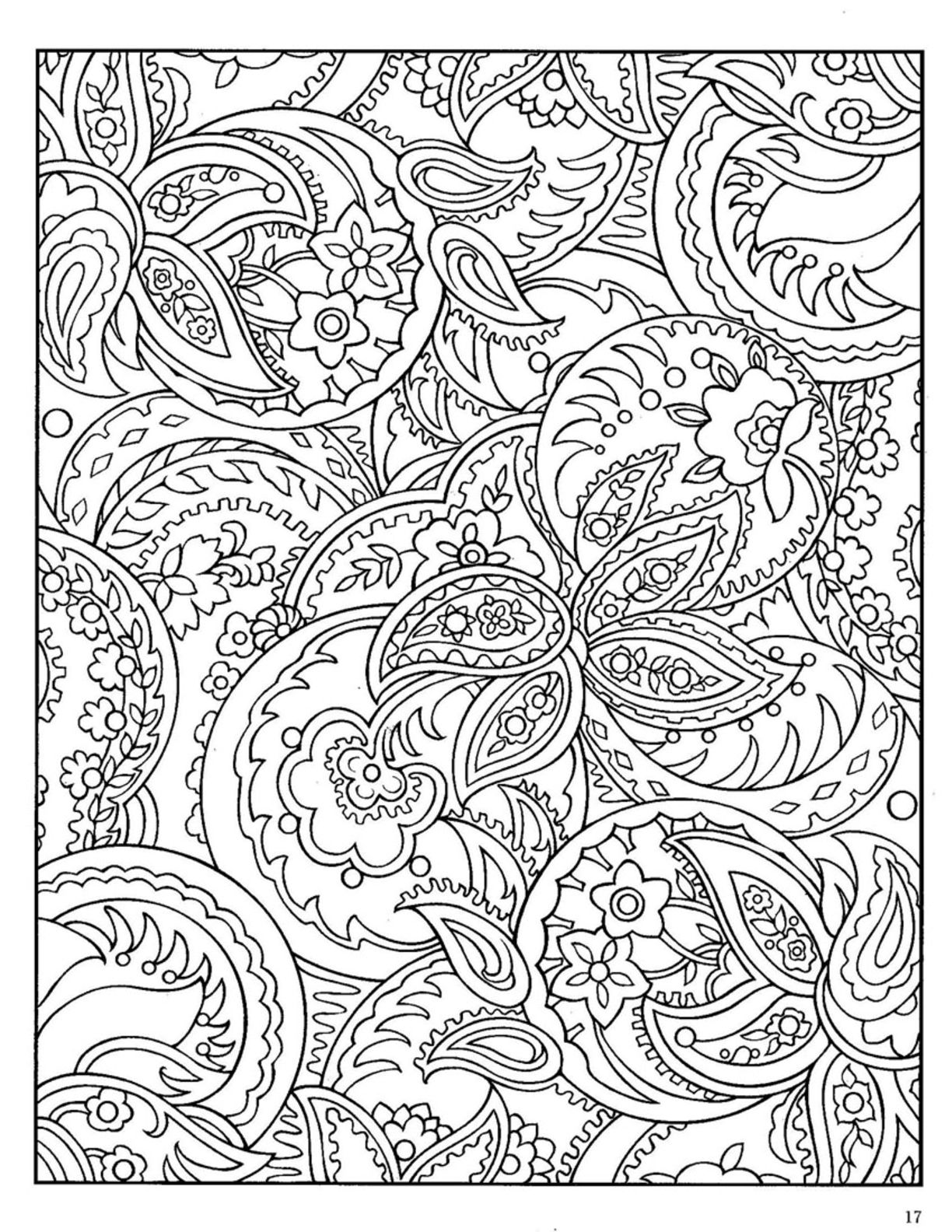 paisley abstract doodle zentangle coloring pages colouring adult detailed - Paisley Designs Coloring Book
