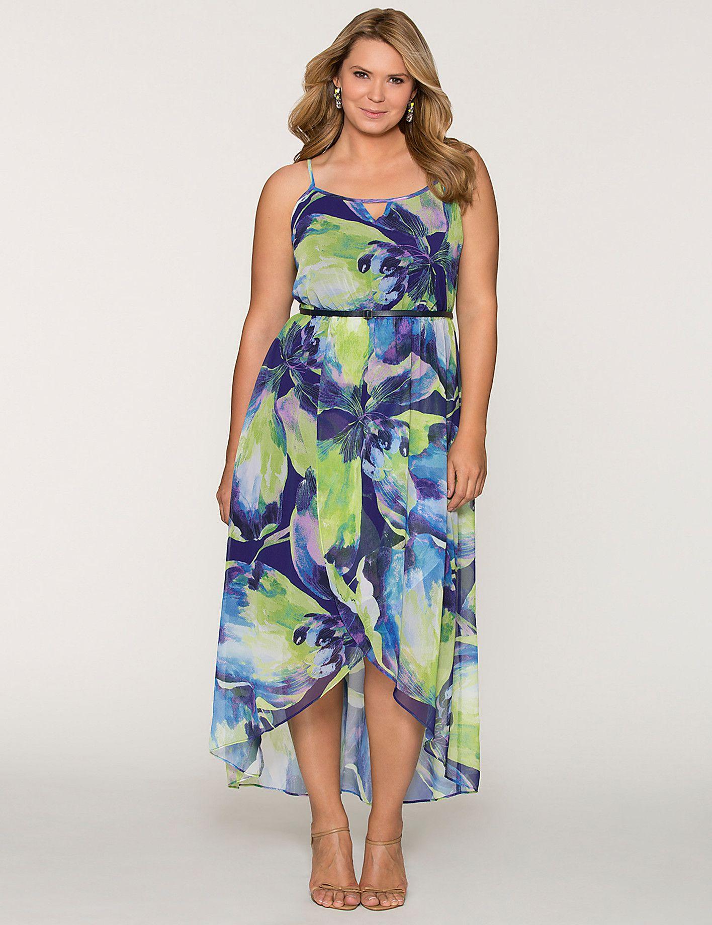 3986e8be915 Plus Size Tulip Hem Maxi Dress by Lane Bryant