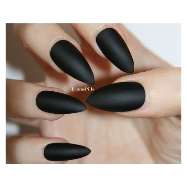 63) matte black nails - Google Search | Nails | Pinterest ❤ liked ...