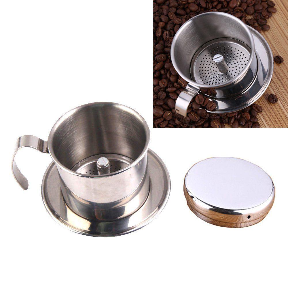 Hanperal coffee maker pot stainless steel vietnamese drip coffee