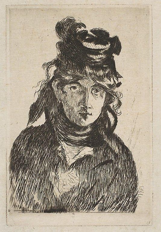 Édouard Manet (French, Paris 1832–1883 Paris), Portrait of Berthe Morisot (French, Bourges 1841–1895 Paris), 1872
