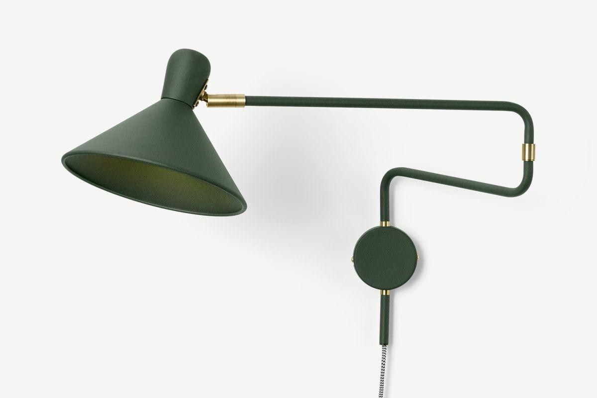 Ogilvy Swing Arm Wall Lamp Green Antique Brass Swing Arm Wall Lamps Wall Lamp Wall Lamps Bedroom