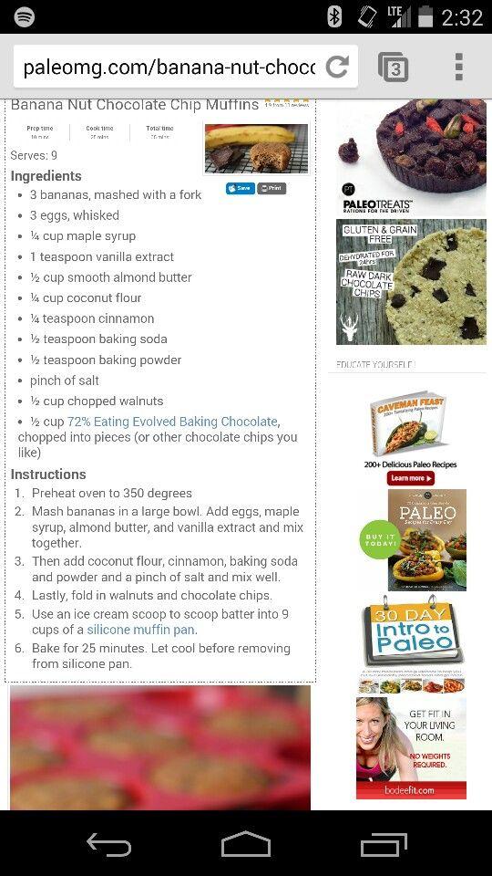 Banana nut choc chip muffin