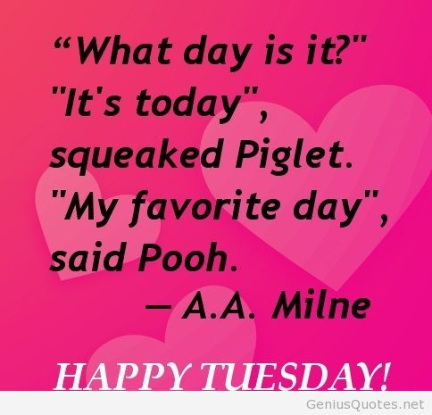 Happy tuesday wish quote card