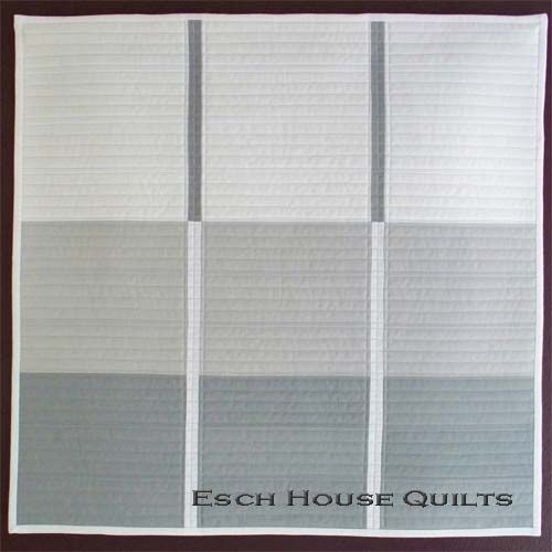 "Esch House Quilts, 20""x20"", Kona White, Shadow, and Iron"