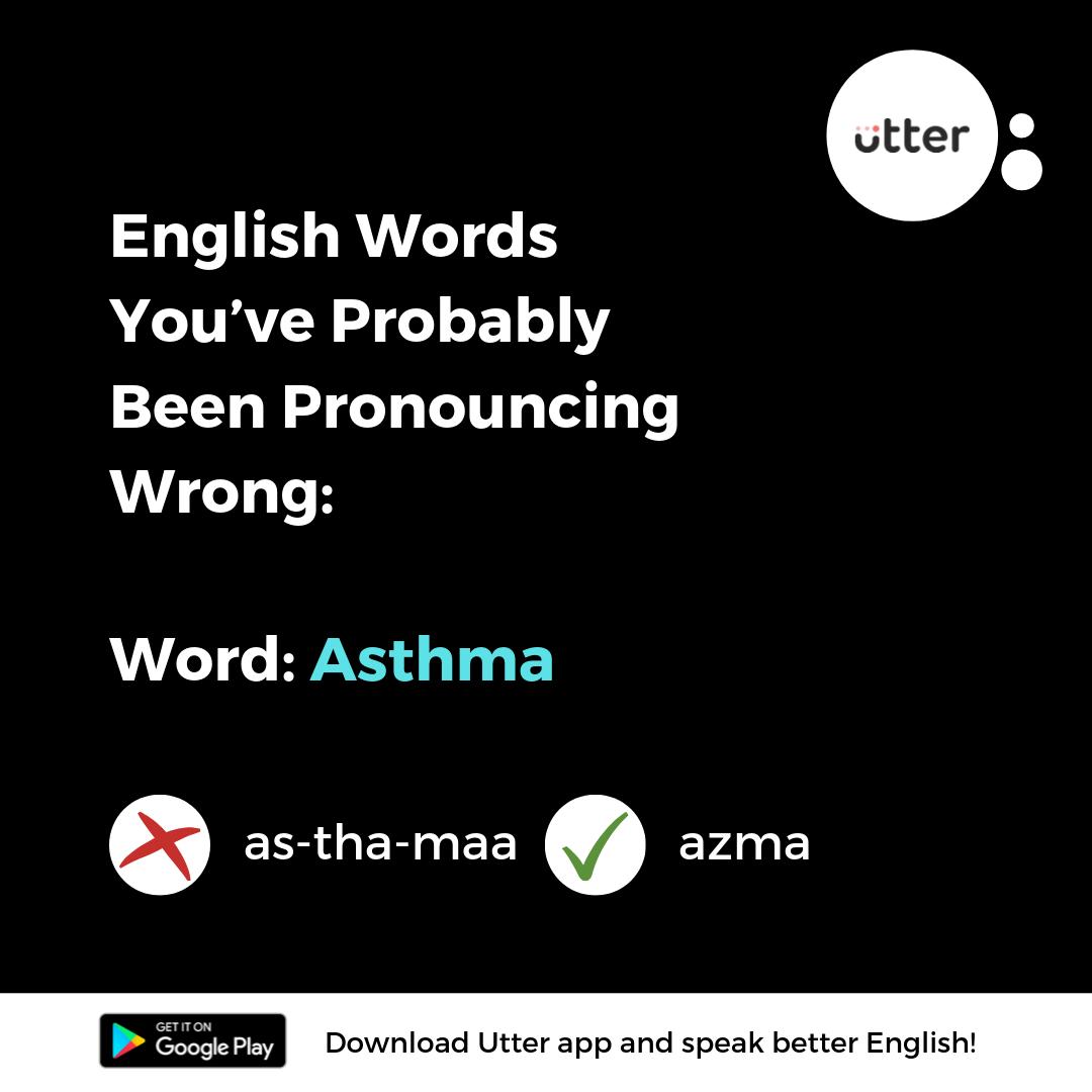 English Word Asthma