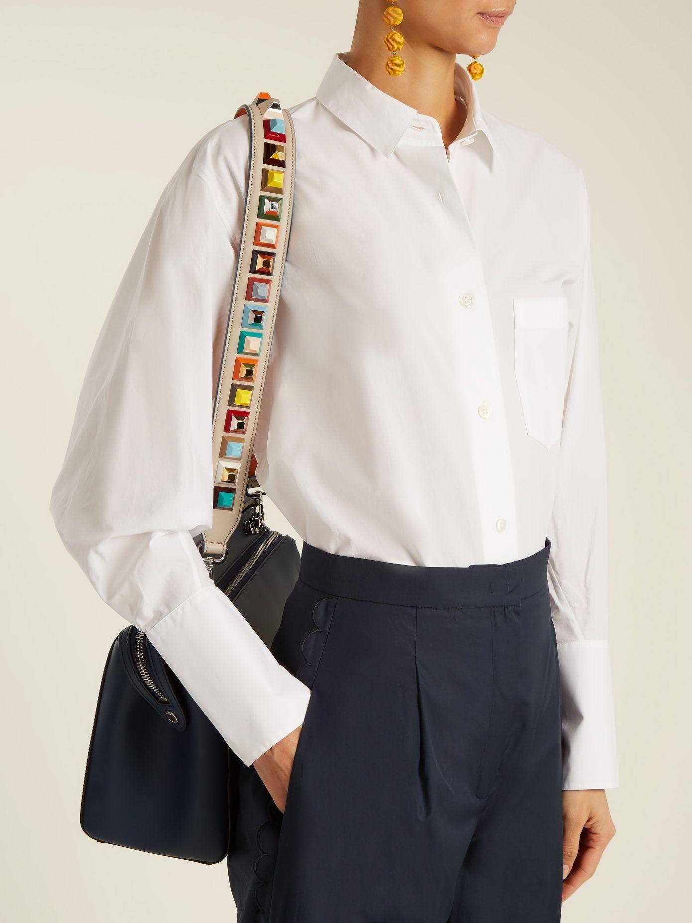 3dda8753 Strap You stud-embellished leather bag strap   Fendi ...