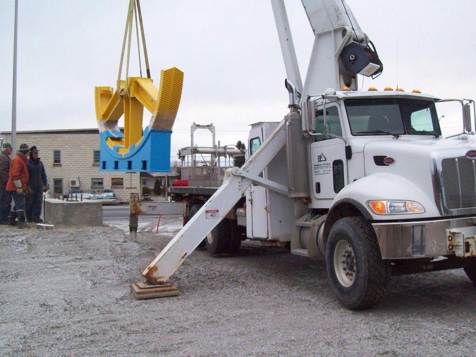 Municipalité de Rivière-Héva — Une grande roue d'engrenage sera érigée comme monument minier à Rivière-Héva.