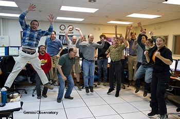 The Gemini Planet Imager team celebrates first light!