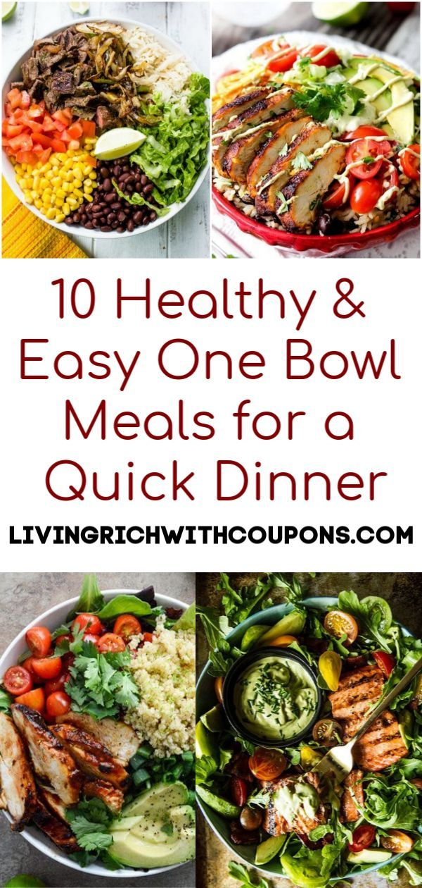 10 Healthy & Easy One Bowl Meals for a Quick Dinner images