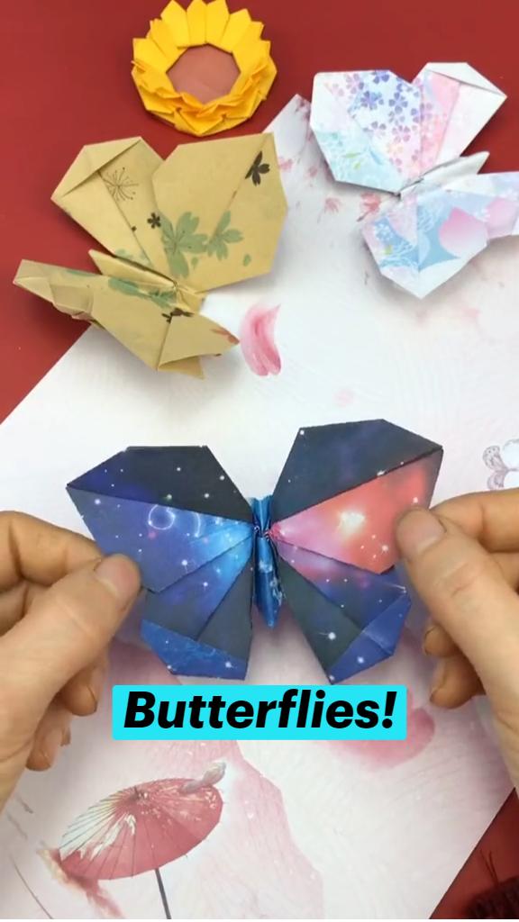 Butterflies! origami tutorial