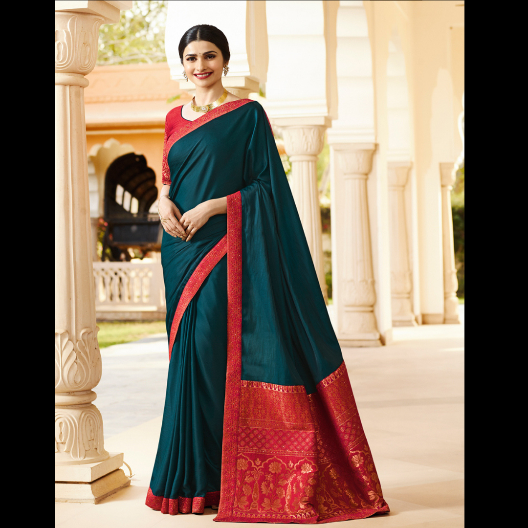 b0e6d62c67 Check out the Teal Green White Rangoli Traditional Saree at #NihalFashions.  Discount & Free shipping all over India. Use Coupon Code: GIRL15  #WomensFashion ...