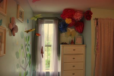 Pom Pom Flowers that I made for my daughter's room!