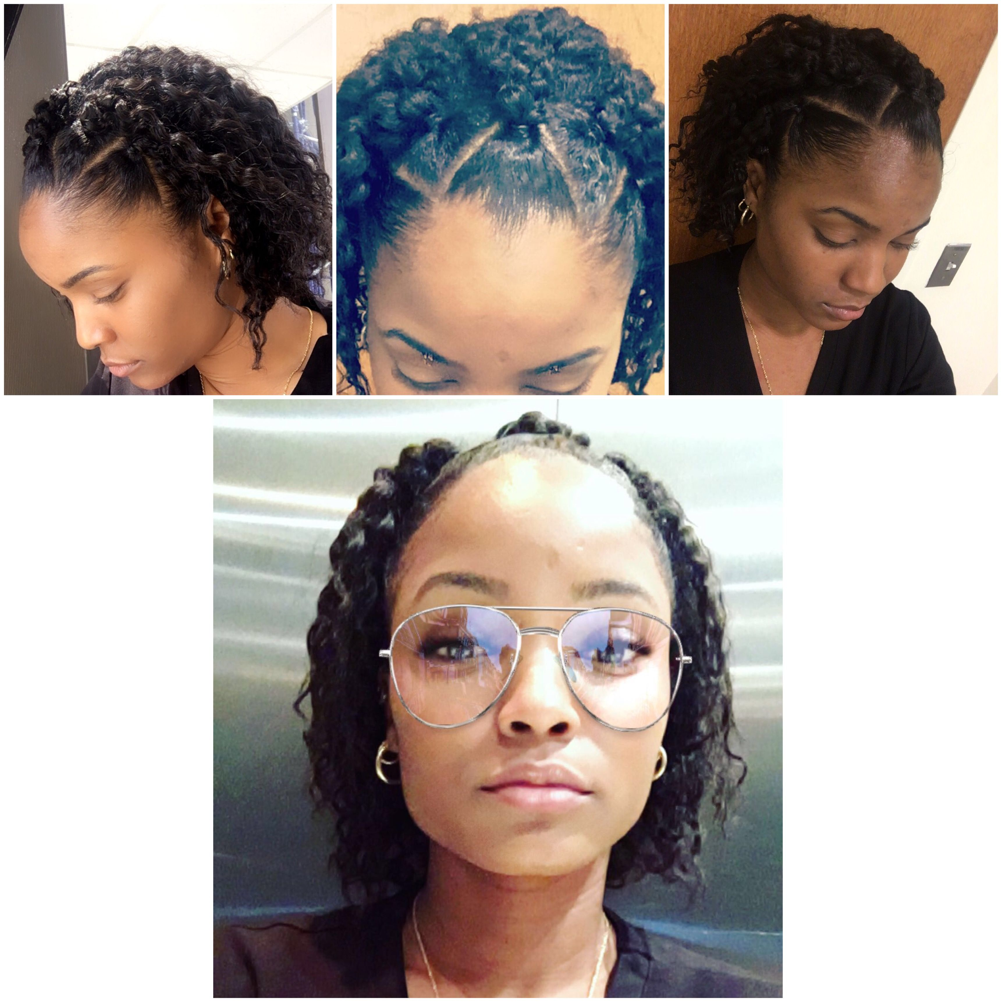 Rubber Bands Transitioning Hairstyles Short Hair Transitioning